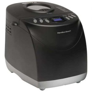 Hamilton Beach Programmable Bread Machine, 2-Pound Bread Maker with Gluten-Free Setting 29882 Product Image