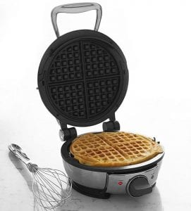 All-Clad 99012GT Stainless Steel Classic Round Waffle Maker with 7 Browning Settings
