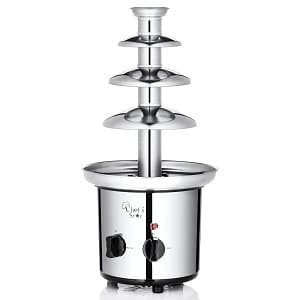 Chefs Star Electric 3-Tier Stainless Steel Chocolate Fountain Product Image