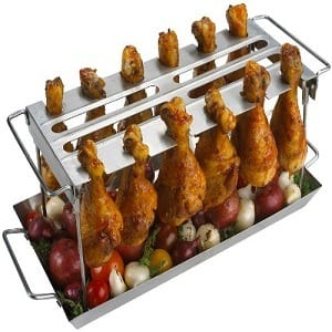 GrillPro 41552 Stainless Steel Grill Wing Rack Product Image
