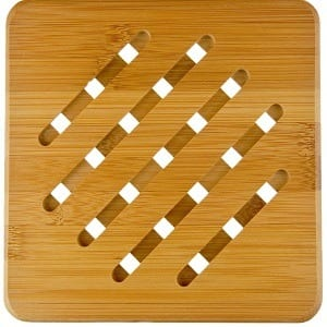 MelonBoat 4 Pack Bamboo Trivet Mat Set Product Image