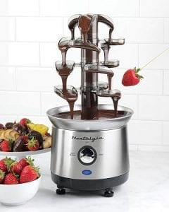 Nostalgia CFF1000 2-Pound Capacity Stainless Steel Cascading Chocolate Fondue Fountain Product Image