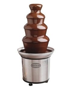 Nostalgia CFF986 4-Tier 2-Pound Capacity Stainless Steel Chocolate Fondue Fountain Product Image