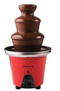 Ovente 2-Tier Chocolate Fondue Fountain Stainless Steel Product Image