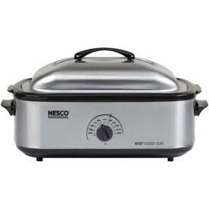 Nesco 481825PR 18 Qt Professional Stainless Steel Roaster Oven with Porcelain Cookwell Product Image