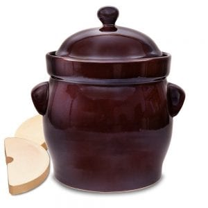 TSM Products Round Polish Fermenting Crock with Stone Weights Product Image