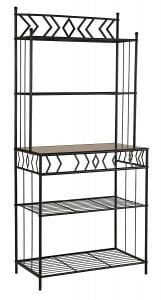 Kings Brand Furniture Metal with Marble Finish 5-Tier Bakers Rack Product Image