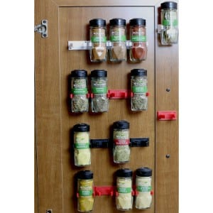 Decobros 30 Spice Gripper Clips Strips Cabinet Holder Product Image