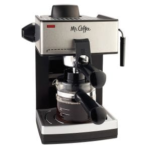 Mr. Coffee 4-Cup Steam Espresso System with Milk Frother Product Image