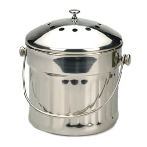 RSVP Endurance Stainless Steel Jumbo Compost Pail product image
