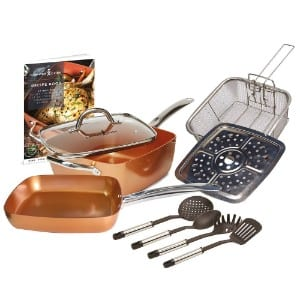 Tristar Products Inc Copper Chef 10 Piece Cookware Set product image