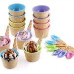 Greenco Vibrant Colors Ice Cream Dessert Bowls And Spoons Product Image