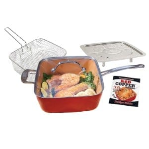 Bulbhead 11198 Red Copper Square Pan 5 Piece Set By Bulbhead Product Image