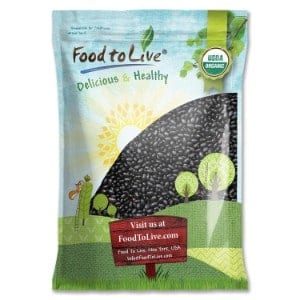 Organic Black Turtle Beans By Food To Live Product Image