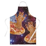 Pizza Space Cat Cooking Apron Product Image