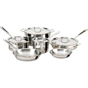 All Clad 600822 Ss Copper Core 5 Ply Bonded Dishwasher Safe Cookware Set
