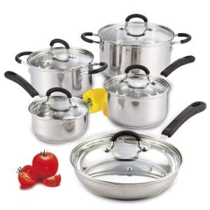 Cook N Home 10 Piece Stainless Steel Cookware Set Product Image