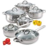 Cook N Home Nc 00250 12 Piece Stainless Steel Cookware Set Product Image