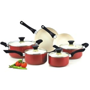 Cook N Home Nc 00359 Nonstick Ceramic Coating 10 Piece Cookware Set Product Image